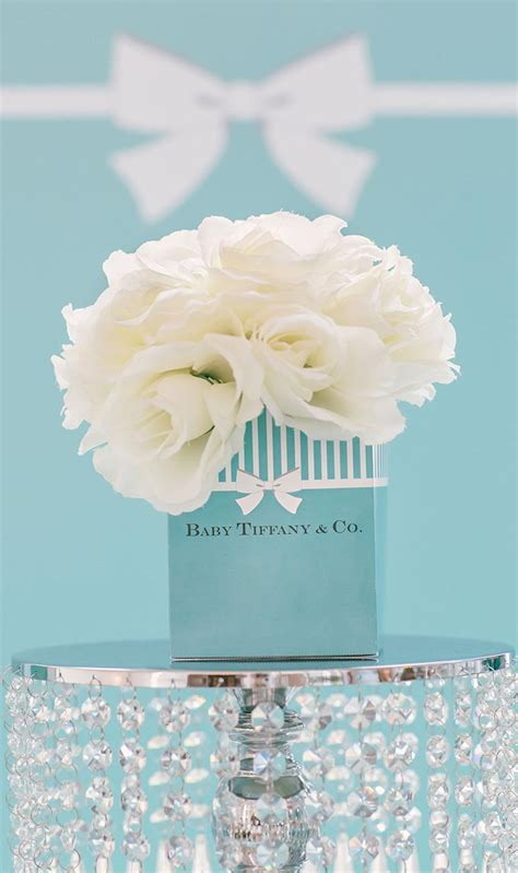 tiffany blue themed baby shower party photography