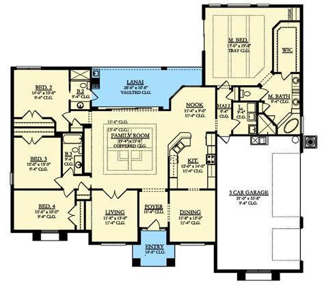 split level home floor plans 4 bed mediterranean house plan with lanai 82192ka 1st