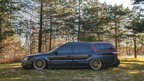 bagged subaru outback my stanced and bagged 2005 subaru baja is almost as