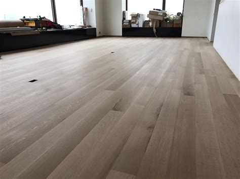 Whitewashed Hardwood Floor White Oak In Chicago Recessed Bathroom Light Modern Bathrooms Tiles Tan And Gray Shaver Night Ideas Best Fixtures For Kids Ceiling Mounted Vanity