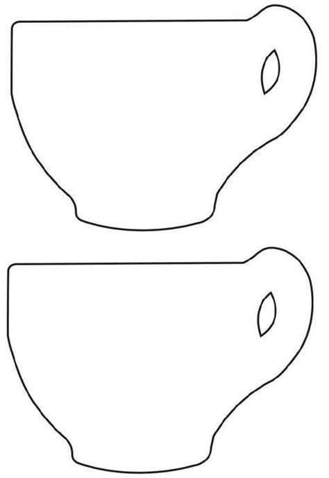 tea cup template free printable tea cup template collage scrapbooking tutorials patterns ideas