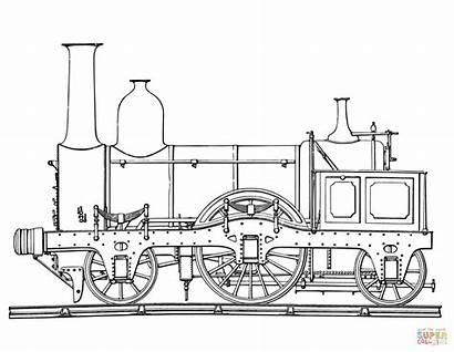 Train Coloring Steam Pages Printable Engine Books