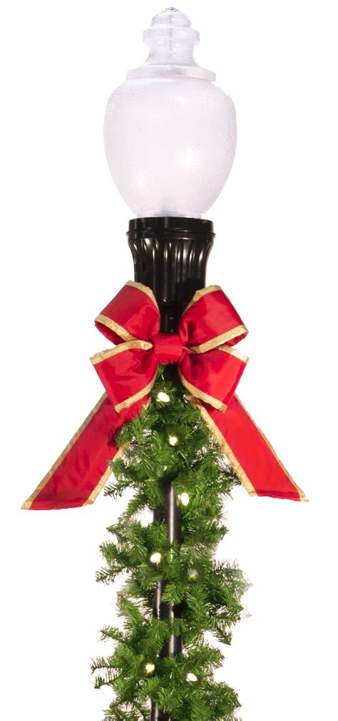christmas light pole decorations garland light pole decorations