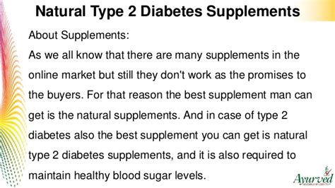 natural type  diabetes supplements  maintain healthy
