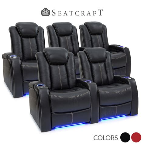 seatcraft delta leather home theater seating power