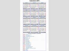 Calendario Laboral Año 2019 en España