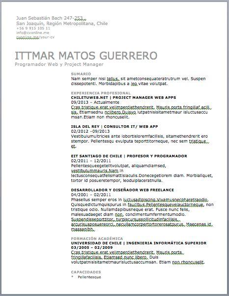 Exemples De Curriculum Vitae by Curriculum Vitae Catala Modelo De Curriculum Vitae