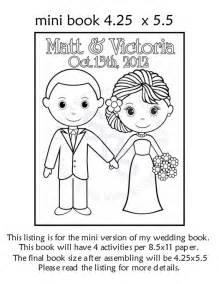 wedding coloring book mini printable personalized wedding coloring by sugarpiestudio