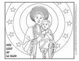 Lady Vang Church Coloring Catholic Roman Template Sjtb sketch template