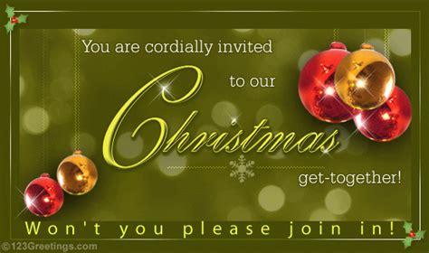 Merry Christmas Invitation Free Invitations eCards