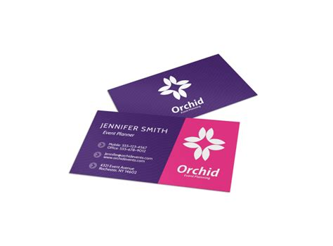 modern event planner business card template mycreativeshop