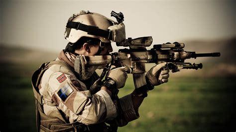 wallpaper hk soldier heckler koch norwegian army assault rifle camo scope military