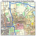Aerial Photography Map of East Lansing, MI Michigan