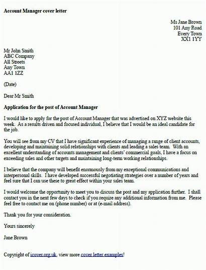 Letter Manager Example Examples Account Template Format