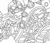 Skylanders Crucher Coloringpagesonly Coloring sketch template