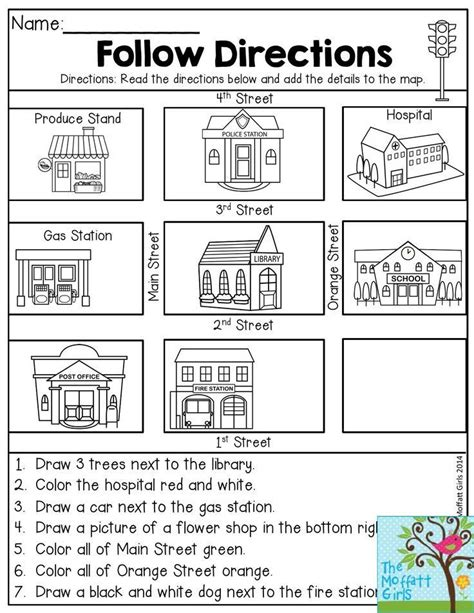 worksheets on following directions for 2nd grade 25 best ideas about following directions activities on