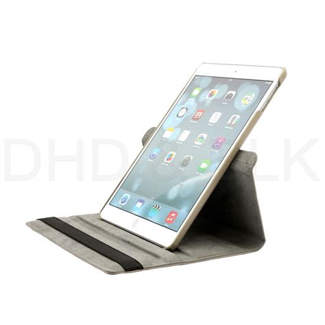 rotating leather folio case cover stand  apple ipad