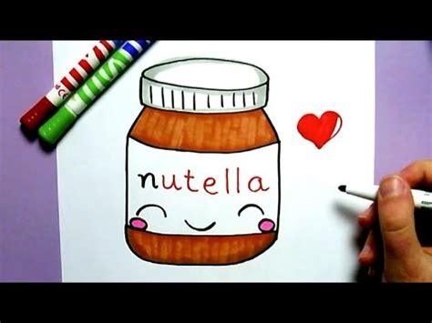 etiquette pot de nutella commnent dessiner un pot de nutella kawaii