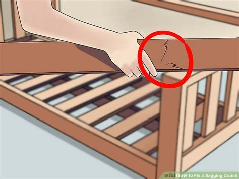 Repair Sofa Frame by How To Fix A Sagging 14 Steps With Pictures Wikihow
