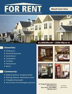 rental property flyer template - for rent flyer template