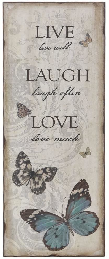 This product belongs to home , and you can find similar products at all categories , home & garden , home decor , wall stickers. Decorative Wooden Wall Art 'Live Laugh Love' Butterfly Design: Amazon.co.uk: Kitchen & Home