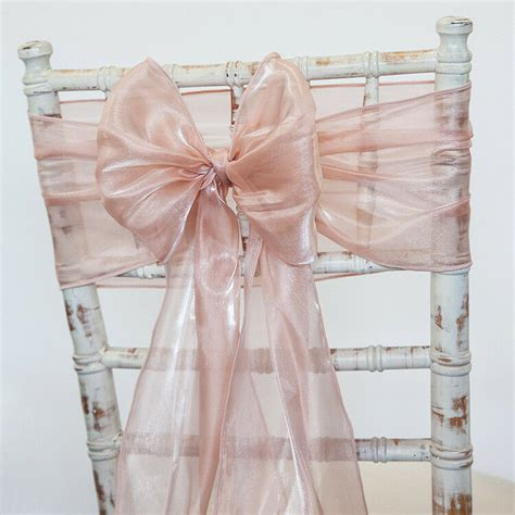 silk organza chair sashes hoods and table runners 2