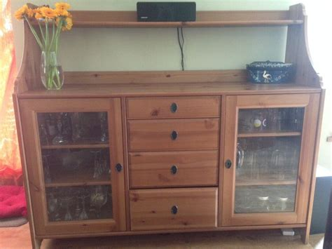 Ikea Leksvik Sideboard, Buffet, Dresser In Antique Pine