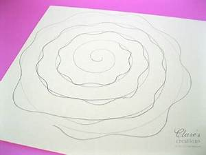 rolled paper roses template - shabby rolled spiral flower tutorial lots of photos