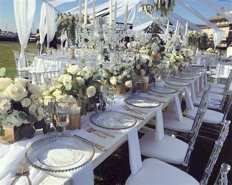 beautiful wedding at harbor island park clear chiavari