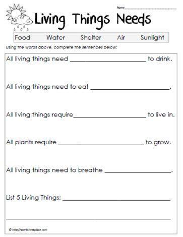 science worksheets living vs non living worksheets