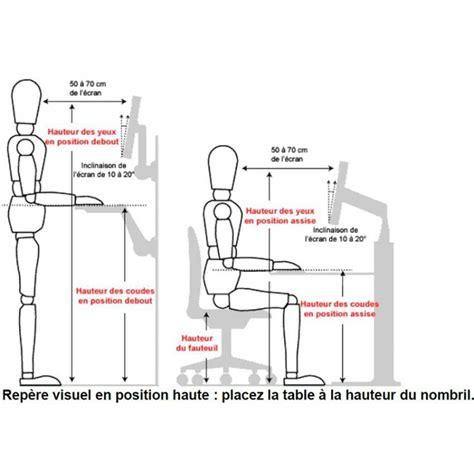 hauteur standard d un bureau bureau 233 lectrique mobilier ergonomique tous ergo