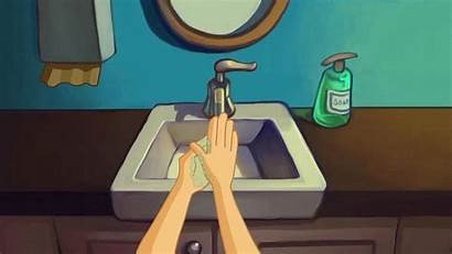 Washing Hands Fingers Between Clean Scrubbing Wash