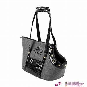 Kleine Tasche Schwarz : stilvolle tasche f r kleine hund chihuahua malteser pinscher in schwarz und grau ~ Watch28wear.com Haus und Dekorationen