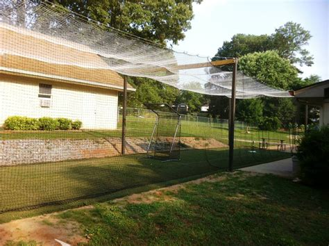 Batting Cage Backyard by Building A Home Batting Cage