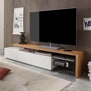 Tv Möbel Lowboard : tv lowboard in wei mit eiche massivholz jetzt bestellen unter ~ Markanthonyermac.com Haus und Dekorationen