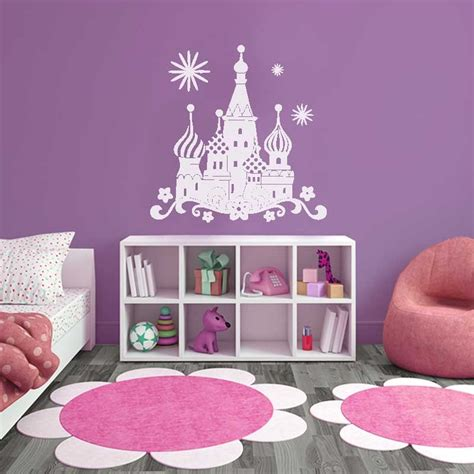 stickers chambre fille sticker mural quot chateau de princesse quot motif enfant fille