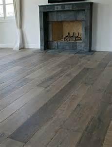 custom aged oak floors for the nest