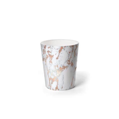 rosegold marble waste paper bin