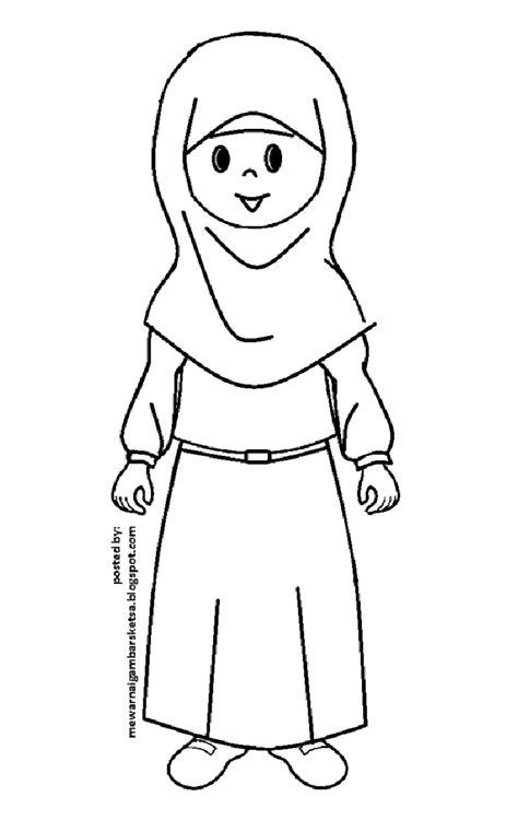 seragam tk muslim mewarnai gambar baju muslimah