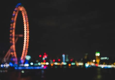 lights city night london uk blurred bokeh wallpapers