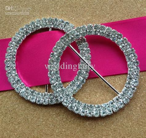 wholesale rhinestone wedding chair sash round buckle from