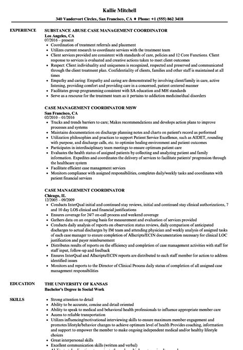 social work case management examples cover letter