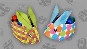 Origami Osterhase Faltanleitung Einfach : origami osterhasenkorb easter bunny box faltanleitung live erkl rt ~ Watch28wear.com Haus und Dekorationen