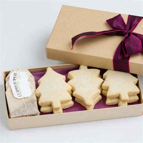 mulled wine shortbread and christmas tea gift box by