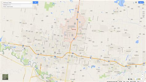 edinburg texas map