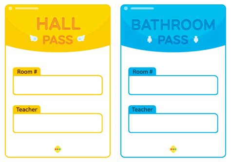 bathroom pass template printables pass bathroom pass class123