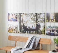 bilder ohne rahmen aufhängen wanddeko wanduhr wandaufkleber selbstgemachte erzeugnisse