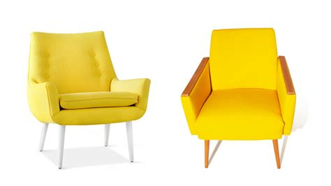 yellow living room chairs modern house