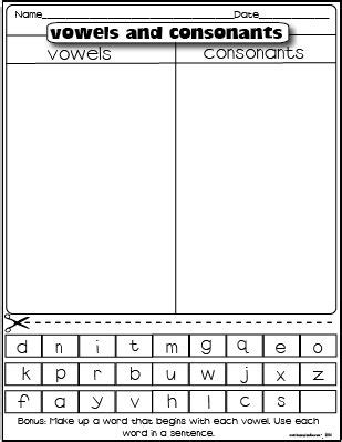 vowels and consonants freebie firstgradefaculty