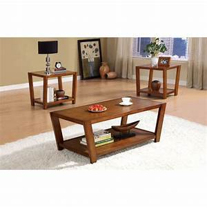 contmeporary dark brown 3pc coffee table set With dark brown coffee table set